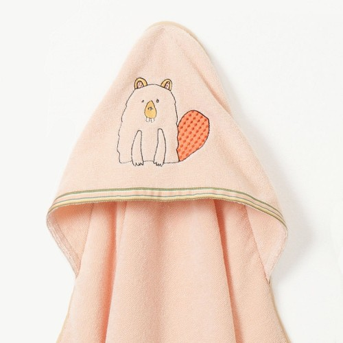 Busy Beaver Hooded Towel