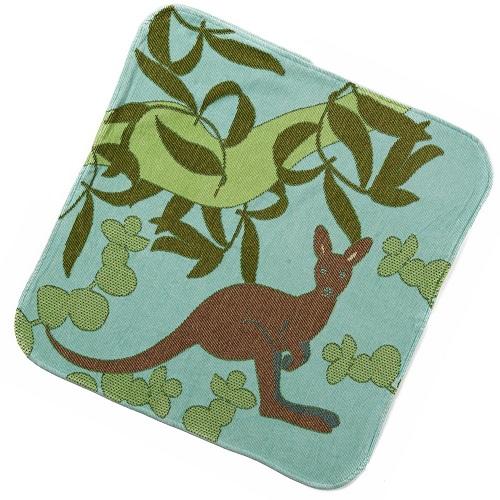 Sea Blue Kangaroo Hooded Towel