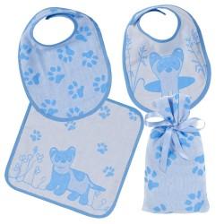 Blue Ferret Bib Set