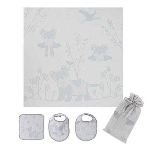 Grey Ferret Swaddle Set