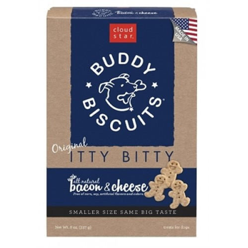 Cloud Star® ITTY BITTY Buddy Biscuits™ - Bacon & Cheese Madness 8 oz. - 12 packages