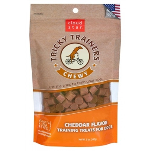 Cloud Star® Chewy Tricky Trainers™ - Cheddar 5oz Pouch. - 12 packages
