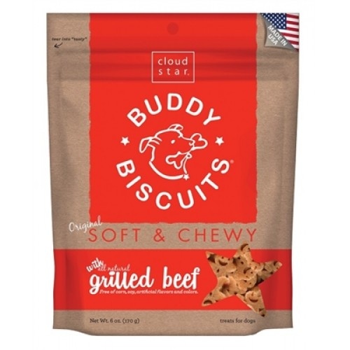 Cloud Star® Buddy Biscuits™ SOFT & CHEWY Dog Treats - Grilled Beef Madness 6 oz. - 12 packages
