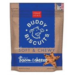 Cloud Star® Buddy Biscuits™ SOFT & CHEWY Dog Treats - Bacon & Cheese Madness 6 oz. - 12 packages
