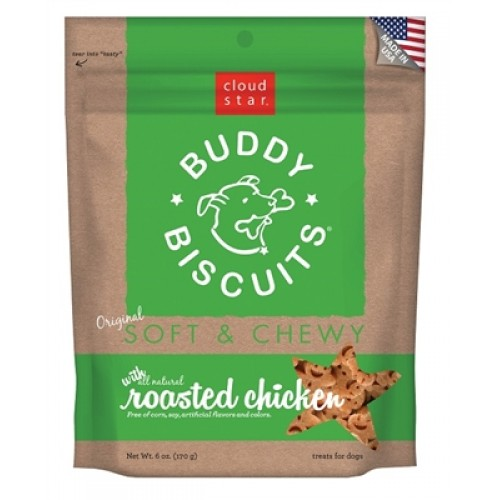 Cloud Star® Buddy Biscuits™ SOFT & CHEWY Dog Treats - Roasted Chicken Madness 6 oz. - 12 packages