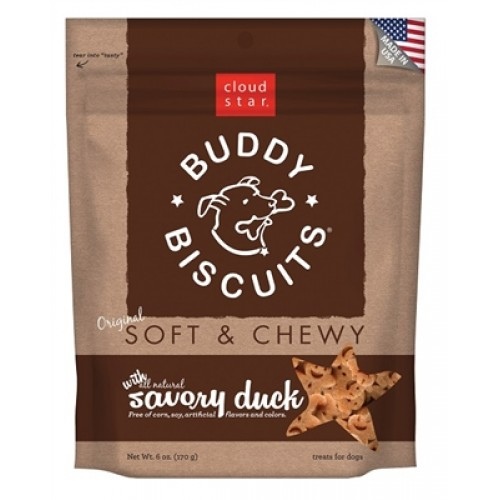 Cloud Star® Buddy Biscuits™ SOFT & CHEWY Dog Treats - Duck - 6oz. - 12 packages