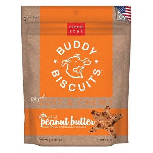 Cloud Star® Buddy Biscuits™ SOFT & CHEWY Dog Treats - Peanut Butter Madness 6 oz. - 12 packages