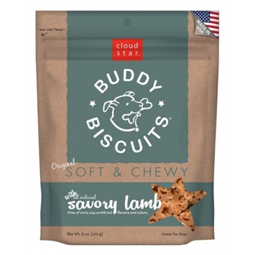 Cloud Star® Buddy Biscuits™ SOFT & CHEWY Dog Treats - Lamb - 6oz. - 12 packages