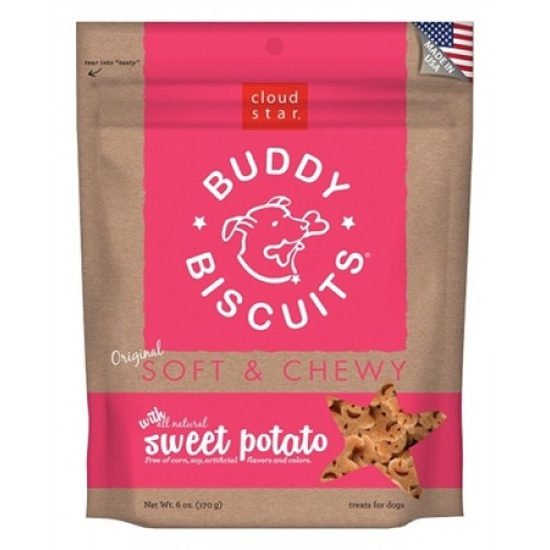 Cloud Star® Buddy Biscuits™ SOFT & CHEWY Dog Treats - Sweet Potato - 6oz. - 12 packages