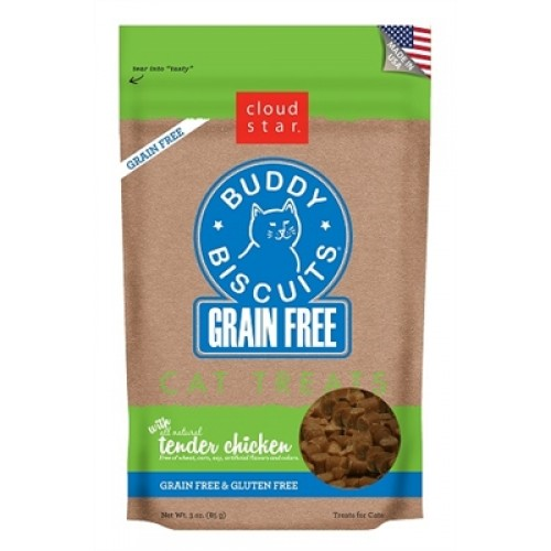 Cloud Star® Grain Free Buddy Biscuits for Cats - Chicken - 12 packages