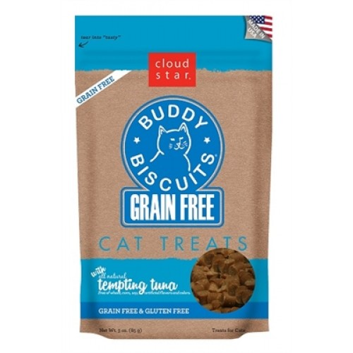 Cloud Star® Grain Free Buddy Biscuits for Cats - Tuna - 12 packages