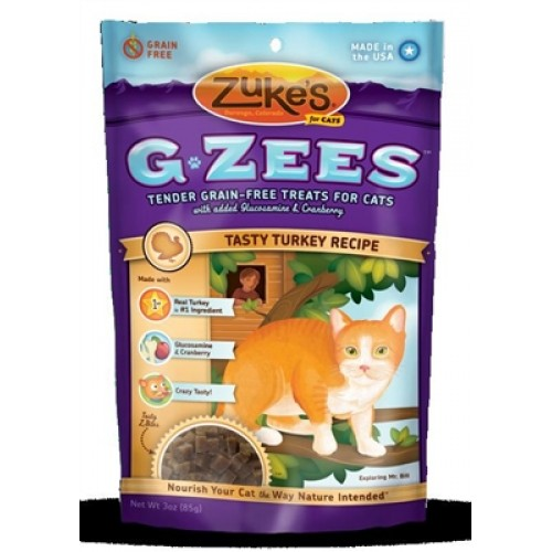 Zukes® G-Zees For Cats - Turkey 3 oz. - 12 packages