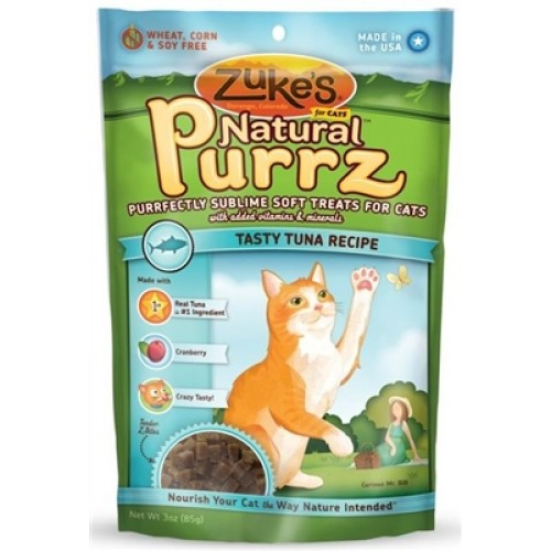 Zuke's Natural Purrz for Cats - Tuna 3 oz - 12 packages