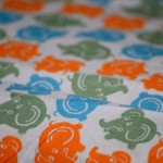 Elephant Crib Fitted Sheet