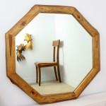 Mirror Ne Teak Octagon