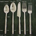 Bamboo Flattened Flatware 5 PC Setting