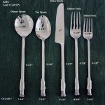 Leaf 3 Coil Round Flatware 5 PC Setting
