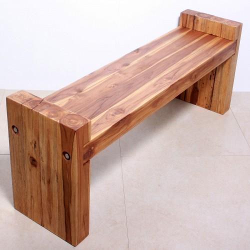 Teak Block Bench