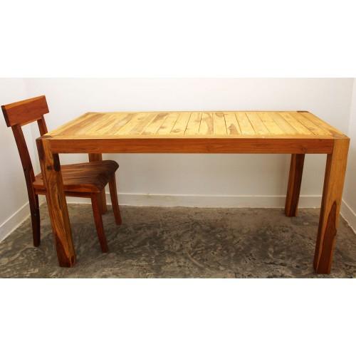 Teak Inlay Kitchen Table