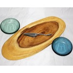 Wood Bias Slice Serving Board Set
