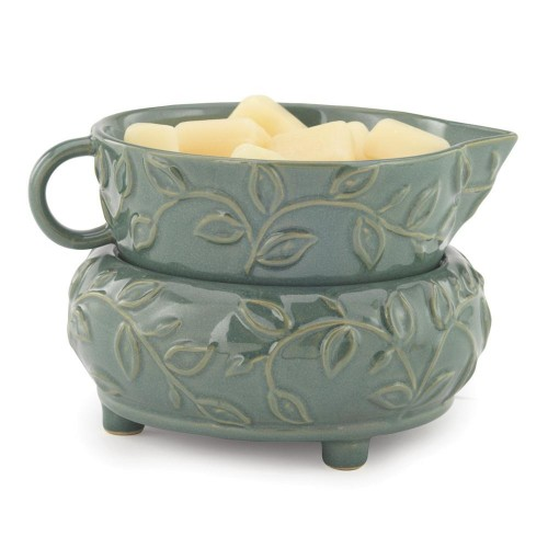 Candle & Wax Melt Warmer in Mint Leaf